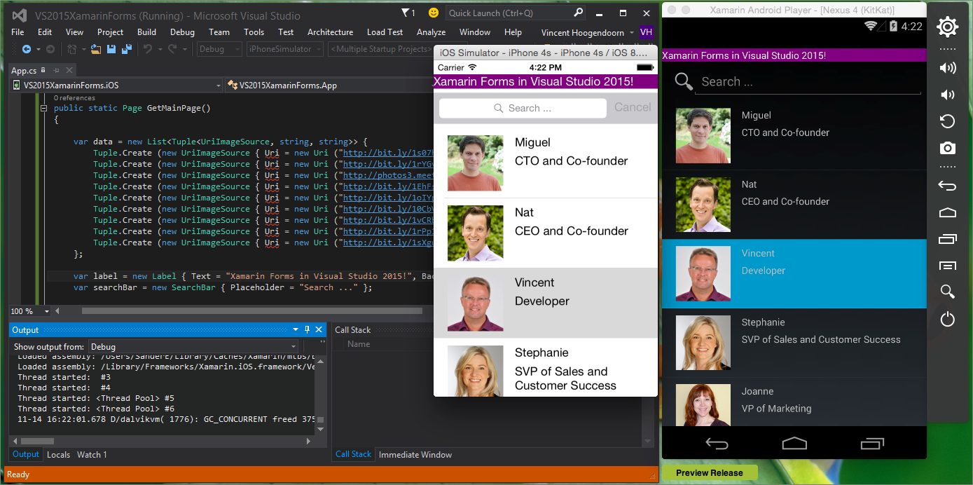 ... Why and How to Get Started with Visual Studio 2015 and Xamarin Forms